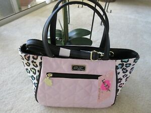 Luv Betsey By Betsey Johnson LBEVE Pink Quilted With Colored Sides Satchel NWT
