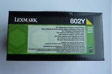 LEXMARK 802Y JAUNE CARTOUCHE D'ORIGINE NEUVE POUR CX310/CX410/CX510