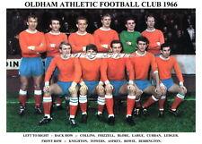 OLDHAM ATHLETIC F.C. TEAM PRINT 1966 (LARGE/KNIGHTON/FRIZZELL)
