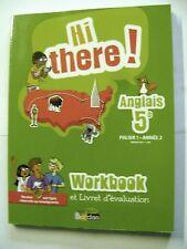Livre Hi There Anglais 5e  Palier 1 Année 2 Version corrigée au enseignants /U16