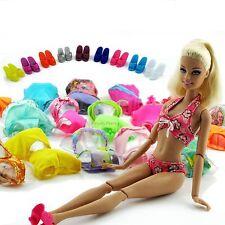Lot10= 5 Swimsuit Beach Swimming Clothes + 5 Slipper For Barbie Doll Swimwear #G