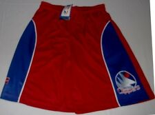 Los Angeles Clippers Shorts Youth Large Hardwood Classics Embroidered Logo Blue