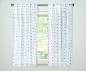 84'x42' Black & White Dot Blackout Curtain Panel