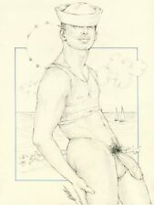 "Male Nude Gay Interest ""Sea Blue"" Original, NOT a copy by Mario Bieletto"