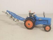 Vtg. Corgi Toys #60 Fordson Power Major Tractor w/ Driver & Tandem Disc Harrow