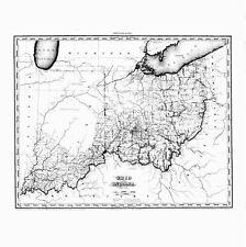 OHIO 1819 OH MAP Uhrichsville Sugarceek Heights Wooster Genoa Richmond Mayfield