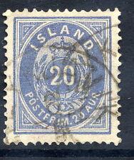 ICELAND 1884 20 aurar grey-blue, used