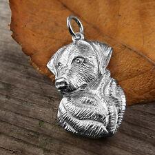 Sterling Silver LABRADOR DOG Pendant or Charm