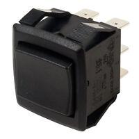 SCI R13-240I BLACK Rocker Switch 6P DPDT (On)Off(On) Panel Mount 16A 250V