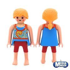 Playmobil ® casa de muñecas | playa | casa de vacaciones mujer en verano ropa azul | rojo