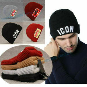Dsquared2 ICON Beanie Hat CANADA Knitted Warm Winter Wooly Unisex Stretch Hat