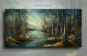 Landscape Art  Giclee canvas print PAINTING Contemporary DECOR Mix.Lang