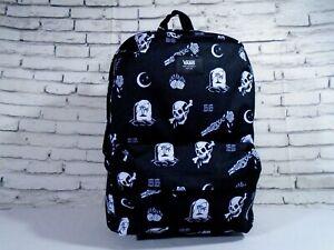 NWT Vans Santa Cruz OLD SKOOL III BACKPACK Travel Gym School Bag BLACK WHT SKULL
