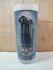 1962 SEATTLE WORLDS FAIR * Science Pavilion * FROSTED GLASS Highball Cocktail