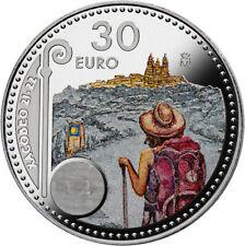 @ENVIO 23/NOV@ 30 EUROS 2021 PLATA AÑO XACOBEO CAMINO DE SANTIAGO España COLOR
