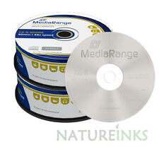 50 MediaRange Branded MultiSpeed 800MB 90min Blank CD-R discs 48x MR221 spindle