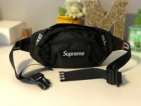 Brand New Supreme Black Waist/Shoulder Bag Fanny Pack for Women & Men Unisex