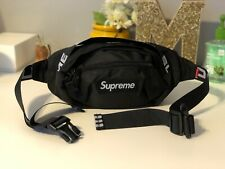 Brand New Supreme Black Waist/Shoulder Bag Fanny Pack for Women & Men Unisex