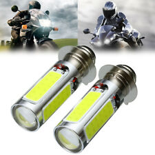 2* H6M White LED Motorbike ATV Headlight Fog Lights Bulbs PX15d P15D25-1 6000K