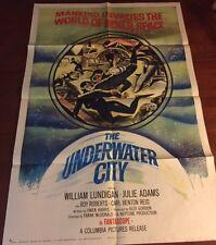 THE UNDERWATER CITY Movie Poster with William Lundigan