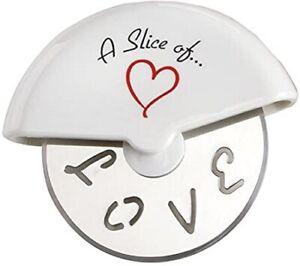 Novelty Circular Handheld Love Pizza Wheel Cutter Boxed Gift Secret Santa Favour