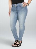 Torrid Stretch Jegging Jeans Size 28 Regular Higher Rise Skinny Light Wash NWT