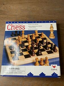 Chess Solid Wood Chess Set by Cardinal Games Hand Carved Pieces Set Complete