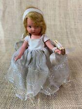 "Nancy Ann Storybook Doll BLONDE BRIDESMAID * NASB * 51/2"" Stiff Legged"