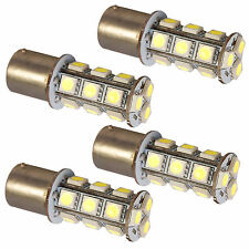 4-Pack HQRP 3W BA15s Base 18 LEDs SMD5050 Bulb for Car Motorcycle Truck Trailer