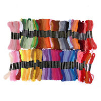 100 Colors Embroidery Thread Hand Cross Stitch Sewing Skeins Home Craft 100PCS