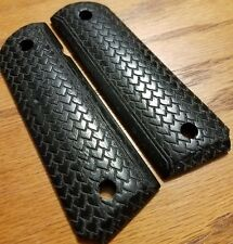 Full size 1911 Walnut Grips, Stained Black with Dragon Scale