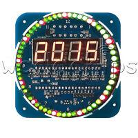 DS1302 Rotating LED Electronic Digital Clock DIY Kit 51 SCM Learning Board 5V