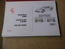 Catalogo PARTI DI RICAMBIO FERRARI 308 GTB 308 GTS SPARE PARTS MANUAL parti di ricambio