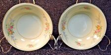 "TWO Homer Laughlin Eggshell Nautilus Ferndale Berry Bowls 5 1/4"" Set of 2 NICE"