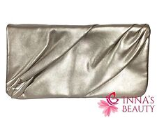 New Swarovski Crystal Gold Clutch Faux Leather Bag Woman Valentine Gift