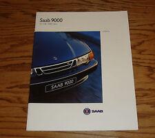 Original 1995 Saab 9000 Deluxe Sales Brochure 95 CS CSE CDE Aero