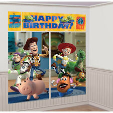 TOY STORY BIRTHDAY PARTY SUPPLIES SCENE SETTER WALL POSTER DECORATIONS