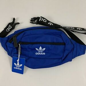 New ADIDAS Fanny Pack Sport Gym Hiking Adjustable Waist Travel Bag Royal Blue