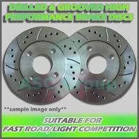 2x Rear Drilled and Grooved 280mm 5 Stud Solid Performance Brake Discs (Pair)