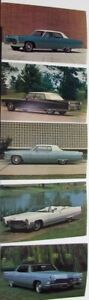 1968 Cadillac Fleetwood DeVille Calais Set of 5 Postcards Original