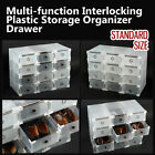 Interlocking Strong Plastic Shoe Box Storage Organizer Drawer - Standard size