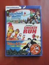 Flushed Away/Chicken Run/Wallace and Gromit (Dvd, 2014, 3-Disc Set), Sealed!