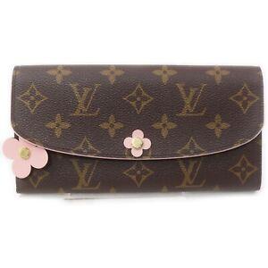 Louis Vuitton Long Wallet Portefeuille Emilie M64202 Browns Monogram 1512948