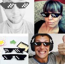Thug Life Glasses Deal With It Sunglasses MLG Eyewear Unisex Meme Cool 8 Bit