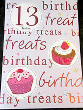 Happy 13th Birthday Card by Premier Cards. 12 available - Multi Listing.