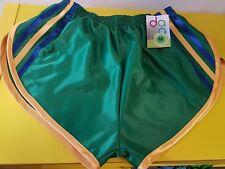 nailon Glanz Satén SPRINTER corto pequeño-xxxxl AÑOS 70 & AÑOS 80 retro, verde,