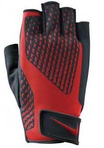Nike Mens Core Lock 2.0 Sports Weight Lifting Training Gloves - Black & Red