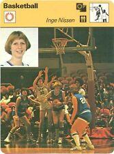INGE NISSEN 1979 Sportscaster Card #76-14 OLD DOMINION MONARCHS Women's BBALL
