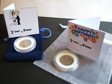 More details for lucky sixpence - birthdays & weddings choose year & custom card free p&p!