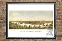 Old Map of McKeesport, PA from 1893 - Vintage Pennsylvania Art, Historic Decor